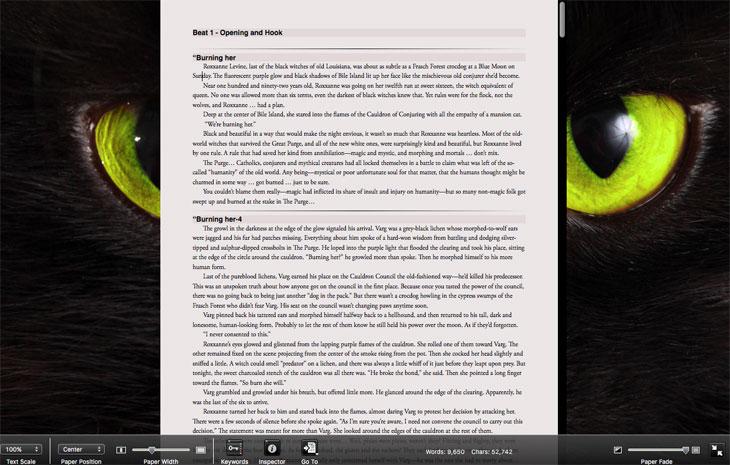 Scrivener Screenshots Composition Mode With Background Scrivenerville