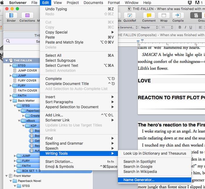 Scrivener Screenshots Name Generator Image