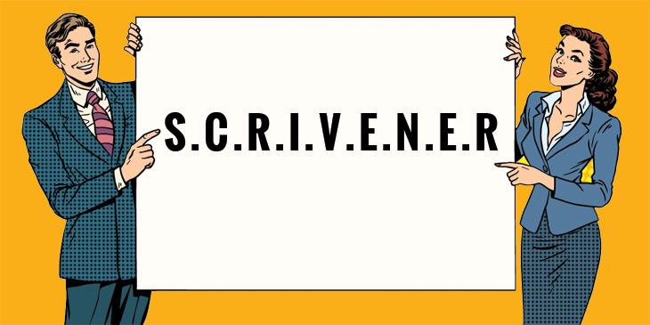 Scrivner scriviner schrivener Misspellings of Scrivener