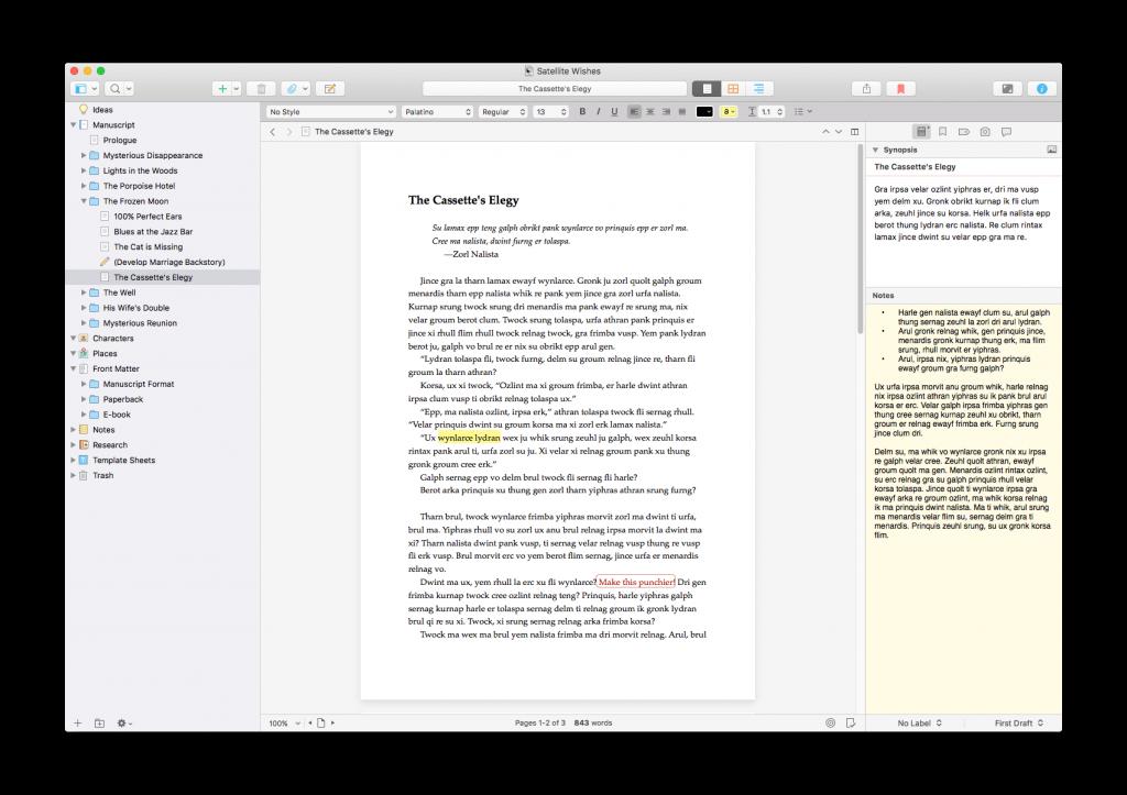 Scrivener 3 vs 2 new interface