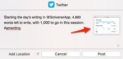 Scrivener 3 vs 2 twitter